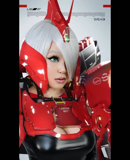 I'm so happy to be able to debut @lagoon.photo X Vampy #GundamGirl set ❤️ This project was months in the making and 100% out of passion and collaboration. #Sazabi is one of my favorite #mobilesuit designs so we decided on just that! Lagoon did all the amazing digital work which to me is insane and I made the costume/styled the wig & learned photography for this project. Quarantine has made us step outside of our comfort zones and find each other. That alone speaks volumes to me about how art brings people together🙌🏻 I can't wait to show you more from this set 🤩 What Mobile Suits are your favorite!? Let me know in the comments below ⭐️