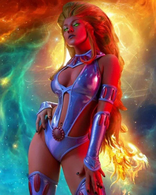 I wanna start showing my projects for May with truly spectacular photos of new Starfire cosplay! 🤩 I've been preparing this classic look for quite a long time and now finally ready to present it! This character is very special to me and I decided to share my joy and make you a little surprise 😉 Starfire is coming for Cosplay Superhero tier this month and as soon as we reach 90 supporters on my page I will share the hottest pictures with everyone there 🔥✨ •Wig: @rita_mim •Stones: @abel_mono •Photo: @dzetarion •Bodyart: @taisrebrova •Costume made by me #cosplay #starfire #cosplaygirl #cosplayer #cosplaymakeup #cosplayphotography #comicscosplay #dccomics #starfirecosplay #dccosplay #dcuniverse