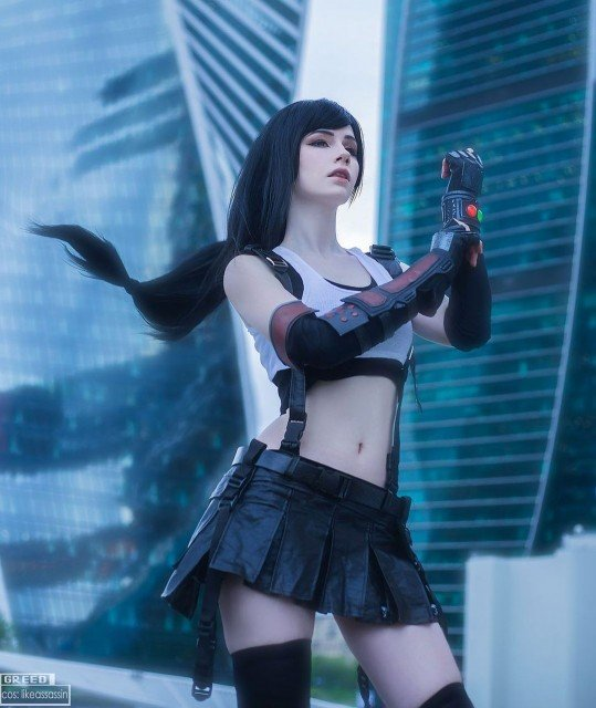 Hehe here is my 5th try as Tifa! 🌝 couldn't...