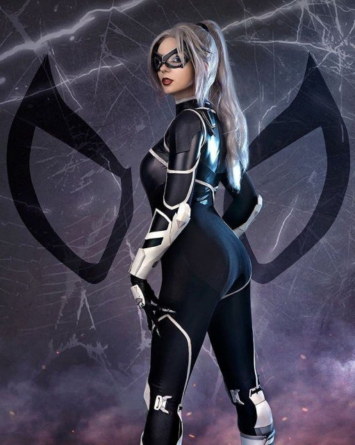 Hey, Spidey! You just hit the Jackpot! 😎💋Black Cat by...
