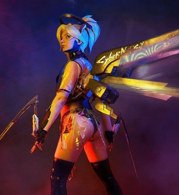 One of my favourite photo with CYBER Mercy 2077 🎮🔥😎All...