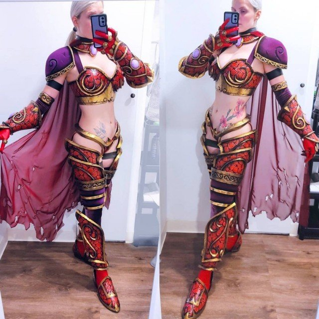 The Alexstrasza armor costume is now complete! ✨🔥The only thing...
