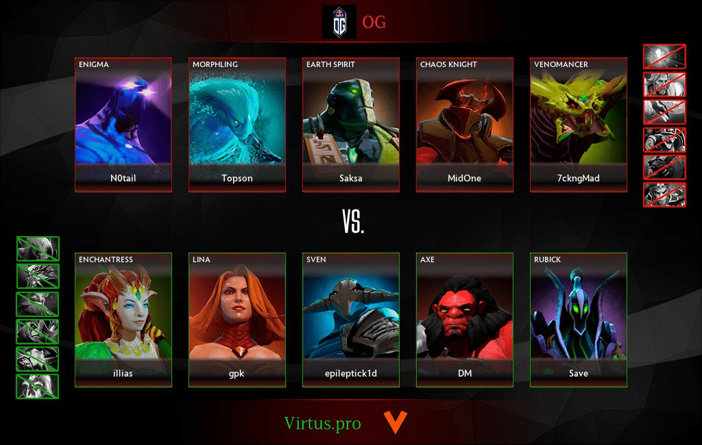Virtuspro выиграли сумасшедший финал против OG как это было