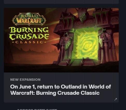 Слухи стала известна дата выхода аддона Burning Crusade для World of Warcraft