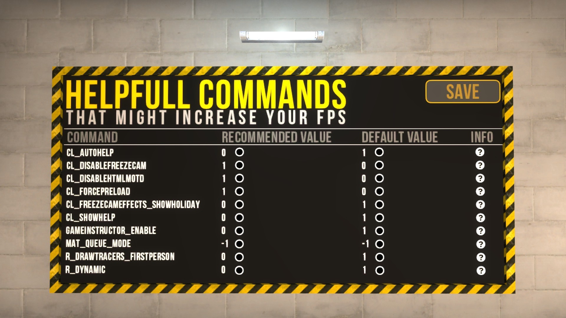 Скачать карту FPS Benchmark для CSGO