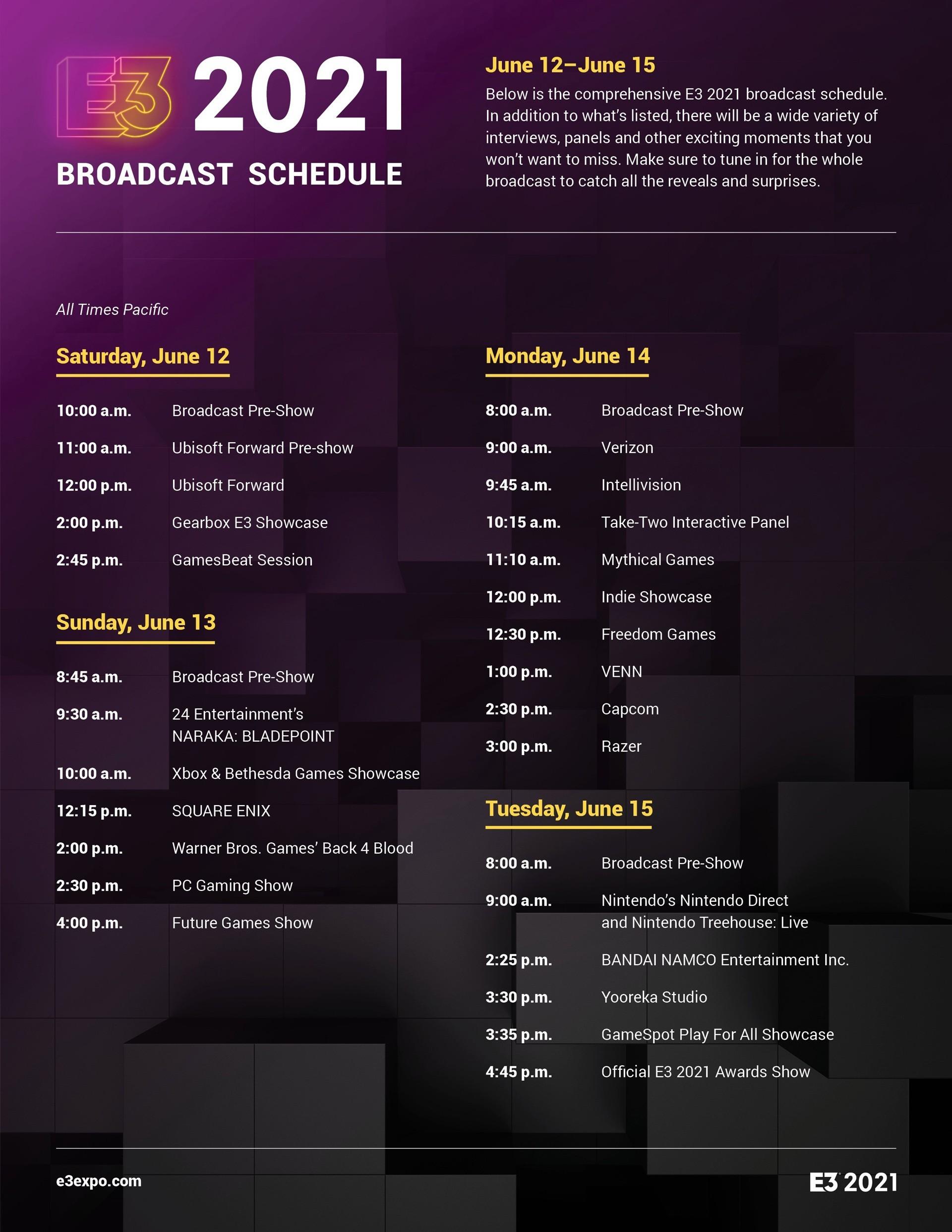 Вся информация о E3 2021 расписание где смотреть слухи и инсайды