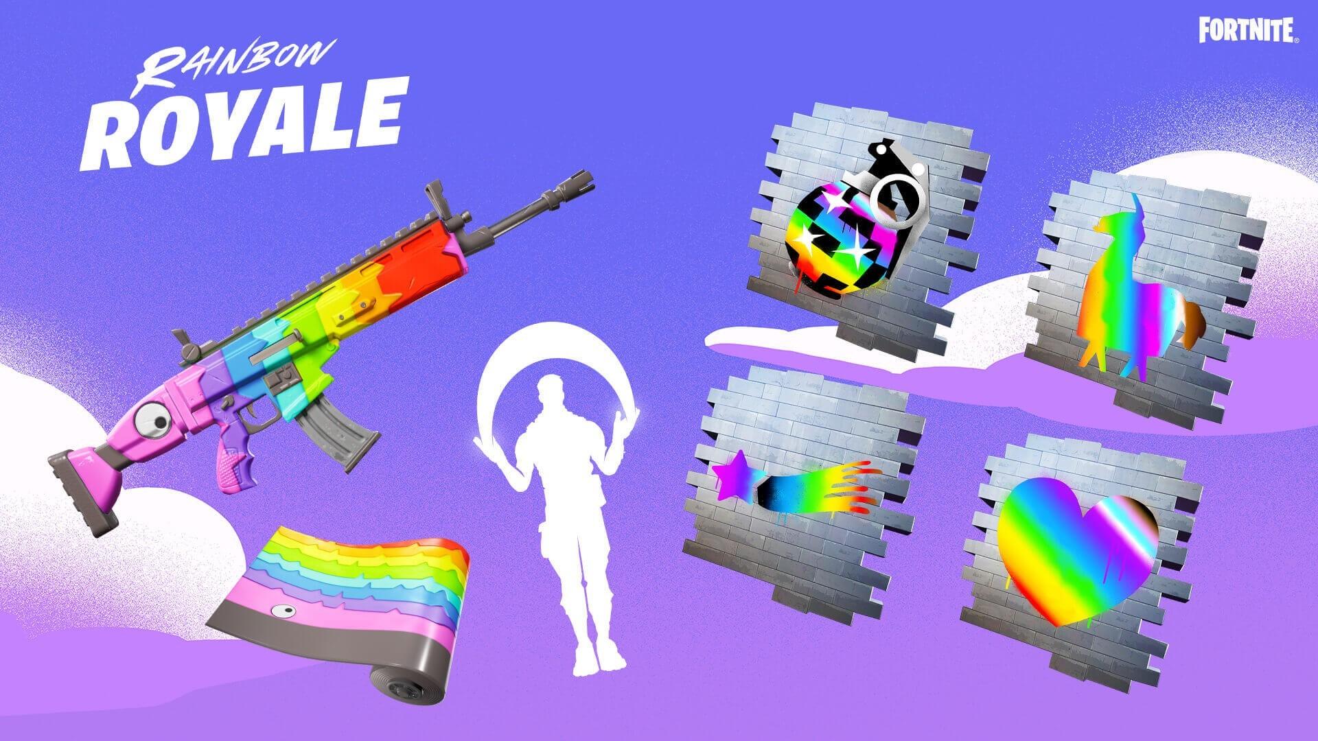 В Fortnite запустили ивент который направлен на поддержку ЛГБТ