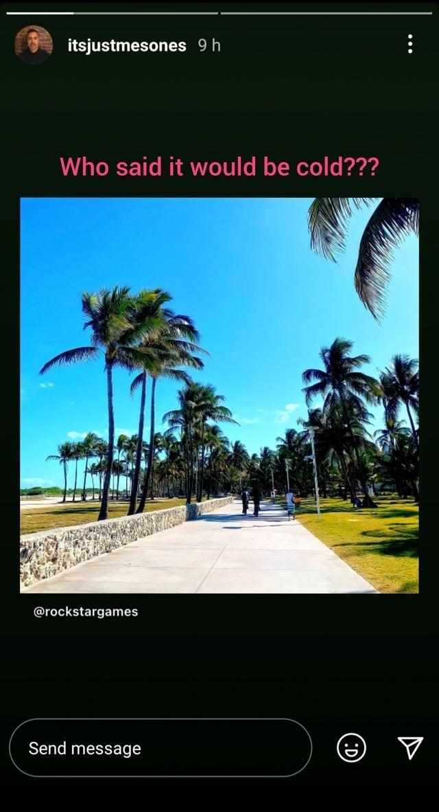 Очередной намек на GTA 6 и ВайсСити Менеджер Rockstar Games выложил загадочное фото сделанное в Майами