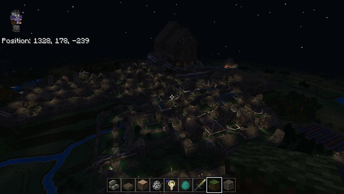 В Minecraft воссоздали крупнейший город из Skyrim