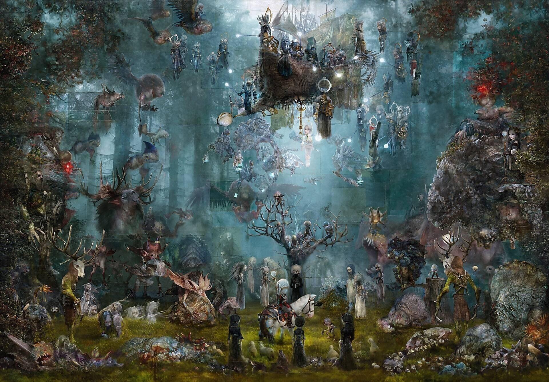 Художник нарисовал картину по мотивам The Witcher 3 ее продают за 20 тысяч долларов