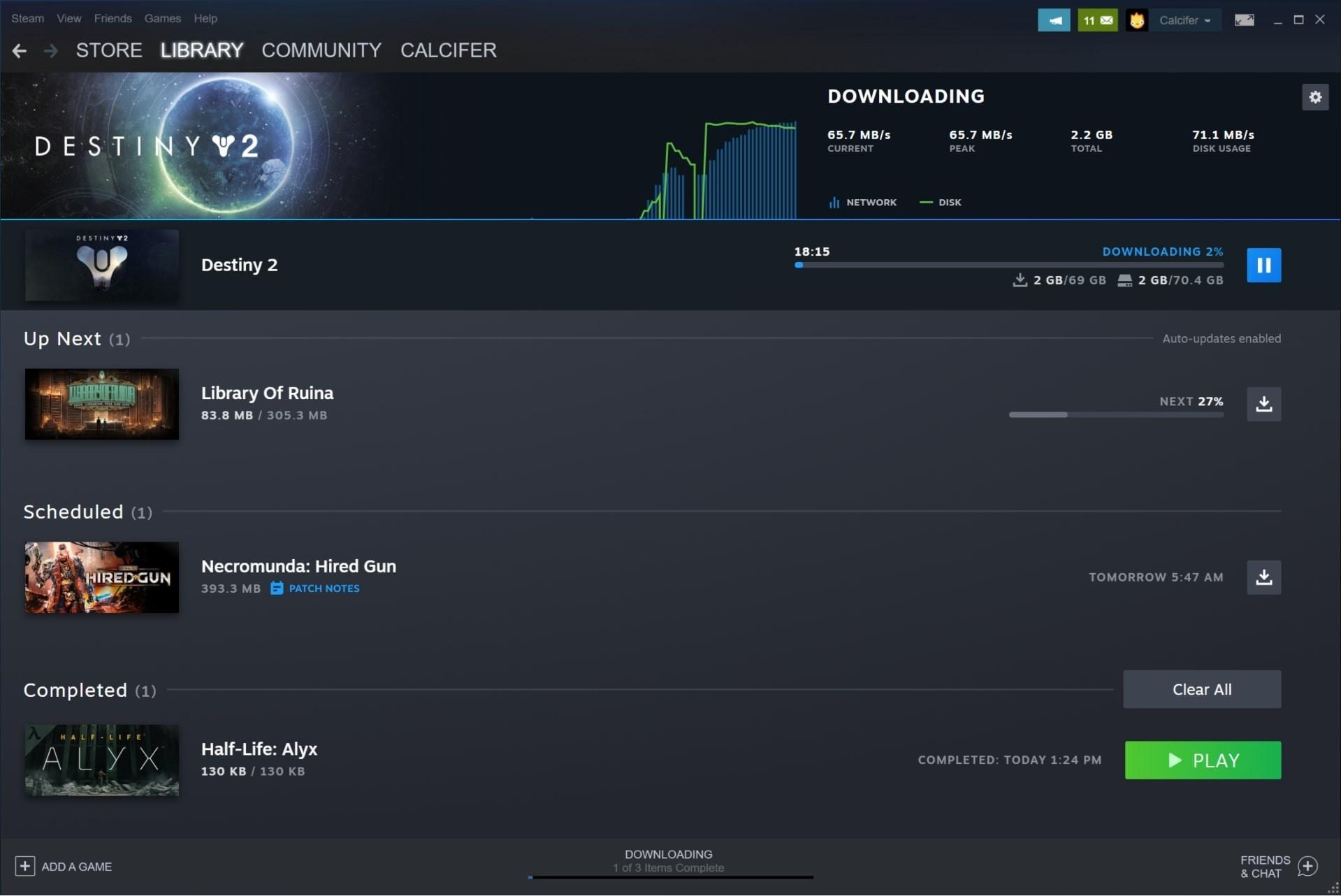 Valve улучшила страницы загрузок и библиотеки игр в Steam стало проще и удобнее
