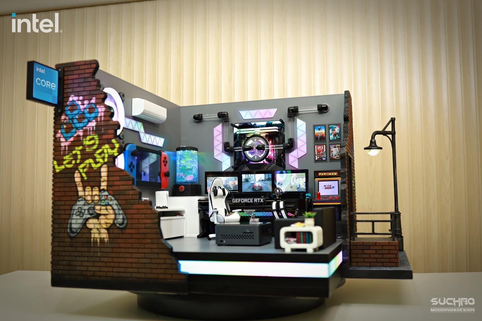 Видеокарта и процессор в качестве декора тайцы представили ПК в виде квартиры геймера