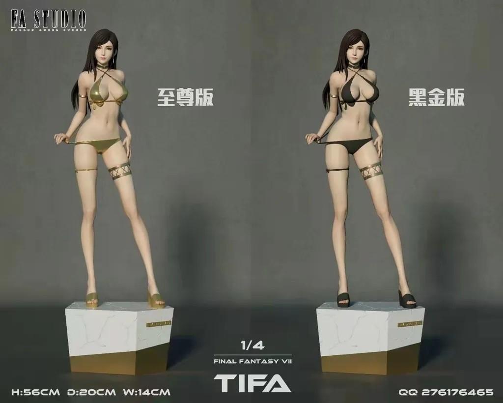 Вышла фигурка Тифы Локхарт из Final Fantasy в белье с большой грудью и аппетитной попой