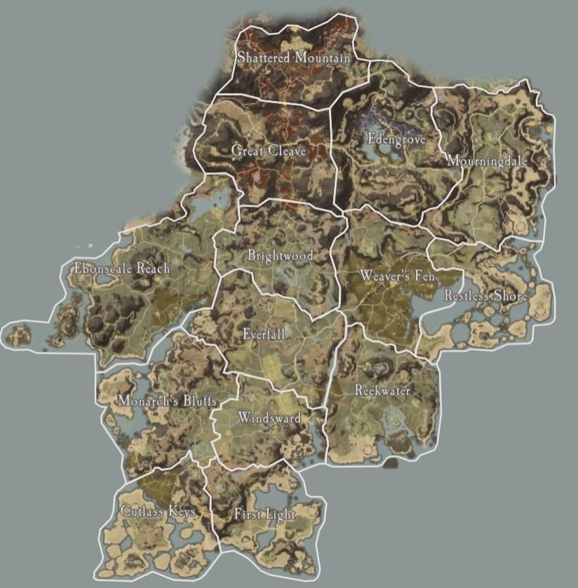 Интерактивные карты New World