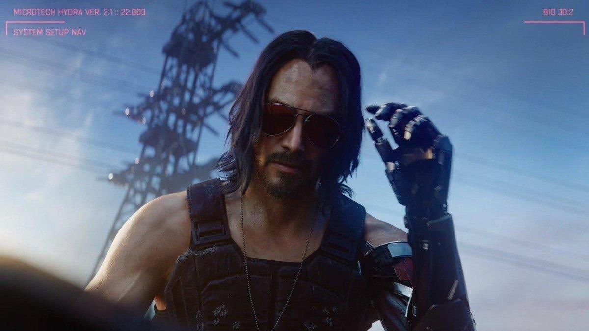 Киану Ривз снялся в новой рекламе Cyberpunk 2077