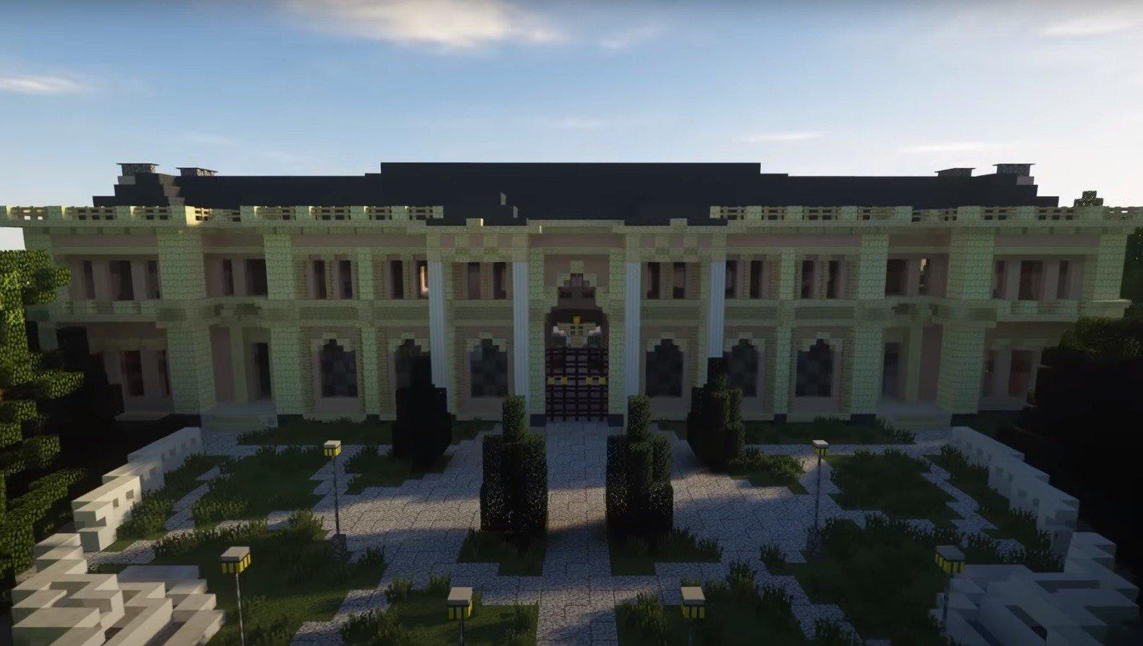 В Minecraft построили Дворец Путина на мысе Идокопас