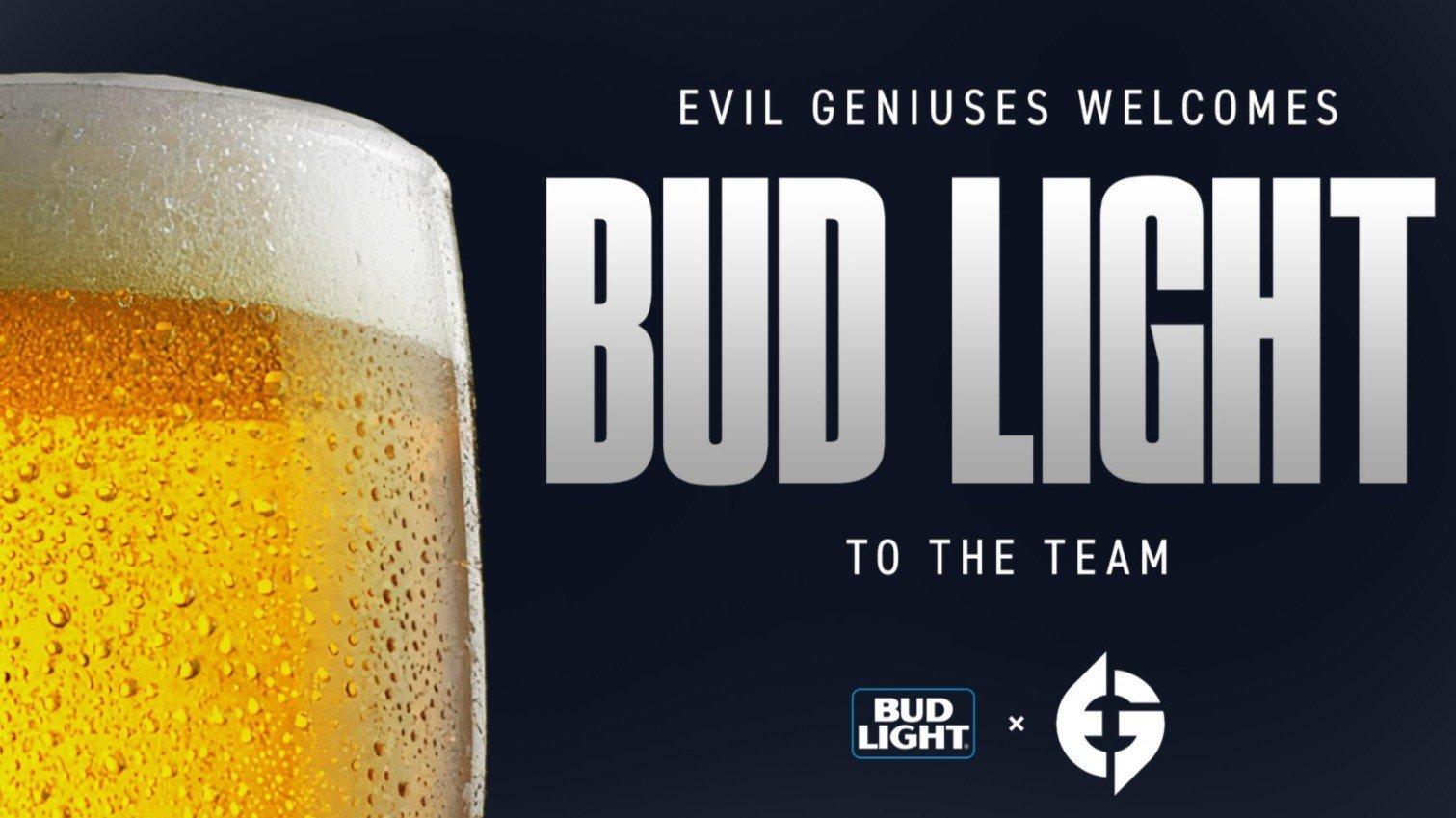 Bud Light стал спонсором Evil Geniuses