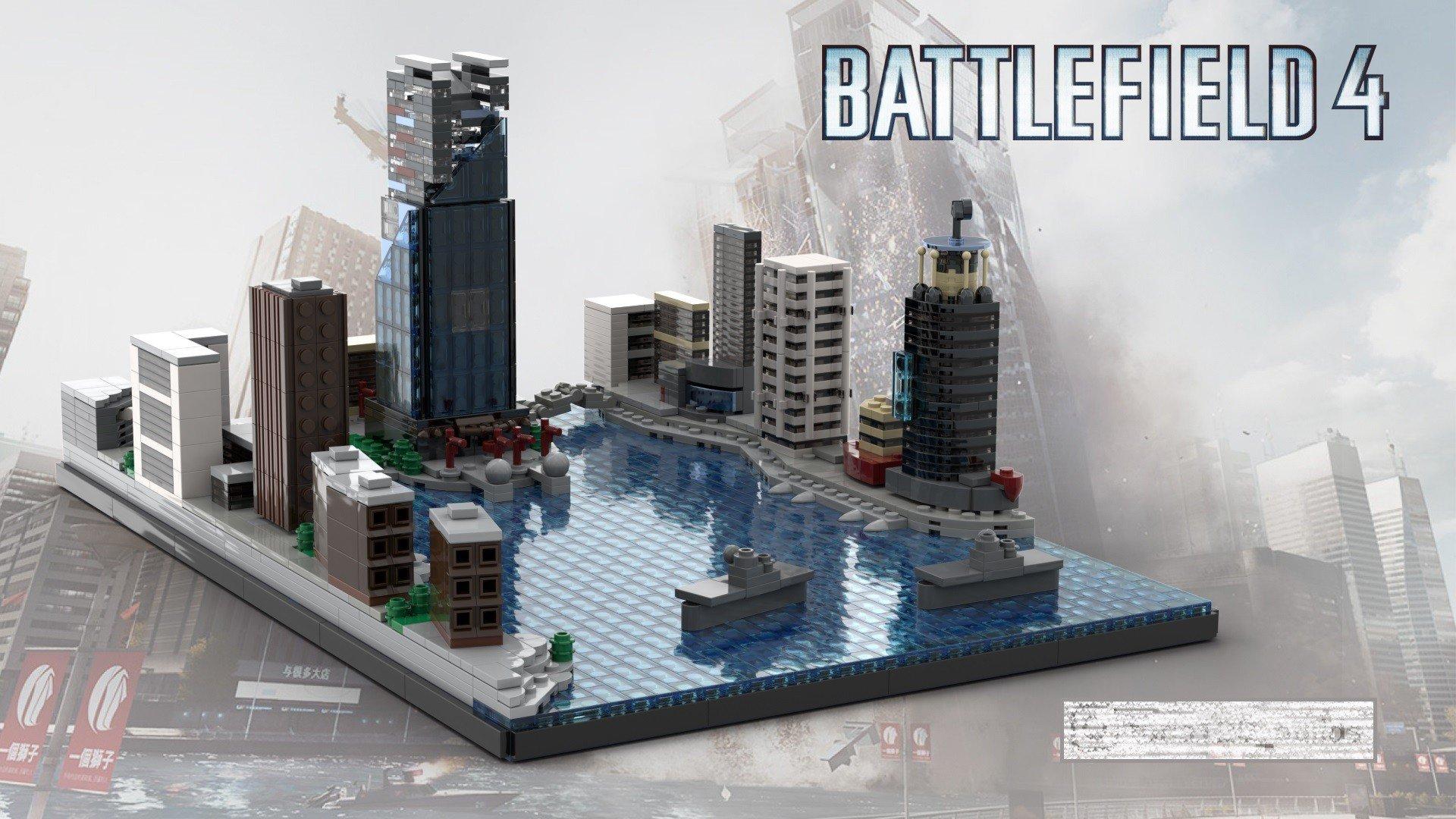 Фанат Battlefield сделал карты игры из LEGO
