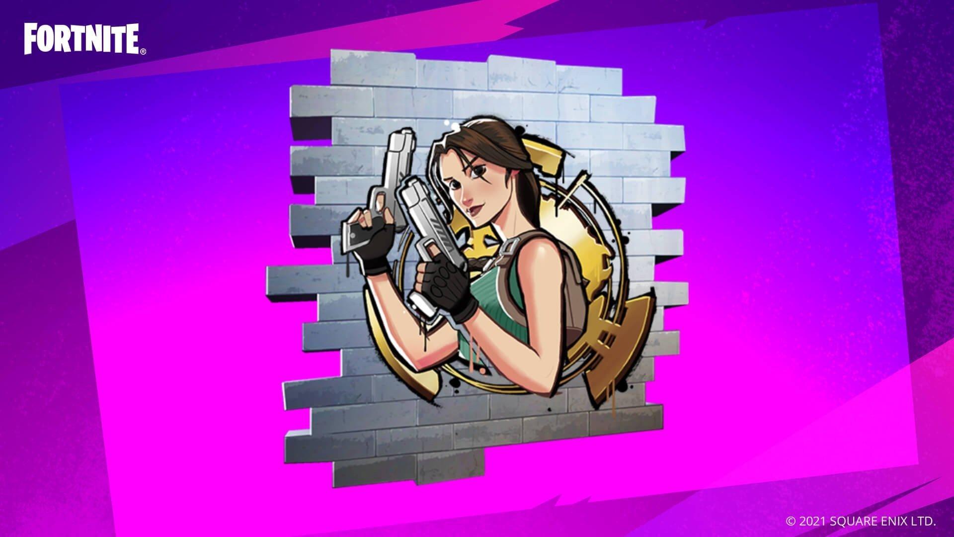 Как получить граффити Лары Крофт в Fortnite