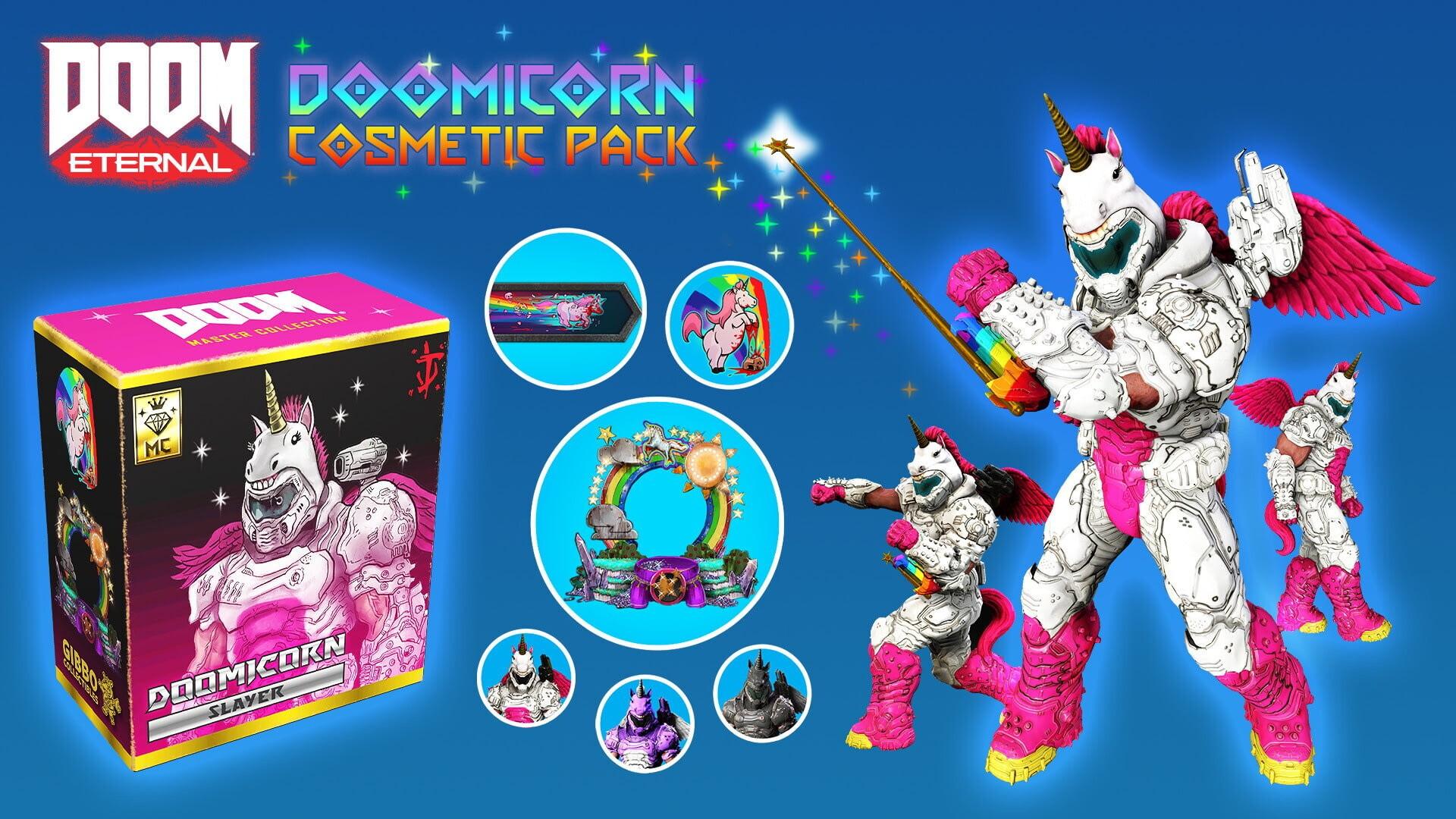 Разработчики DOOM Eternal выпустили платные наборы с косметическими предметами