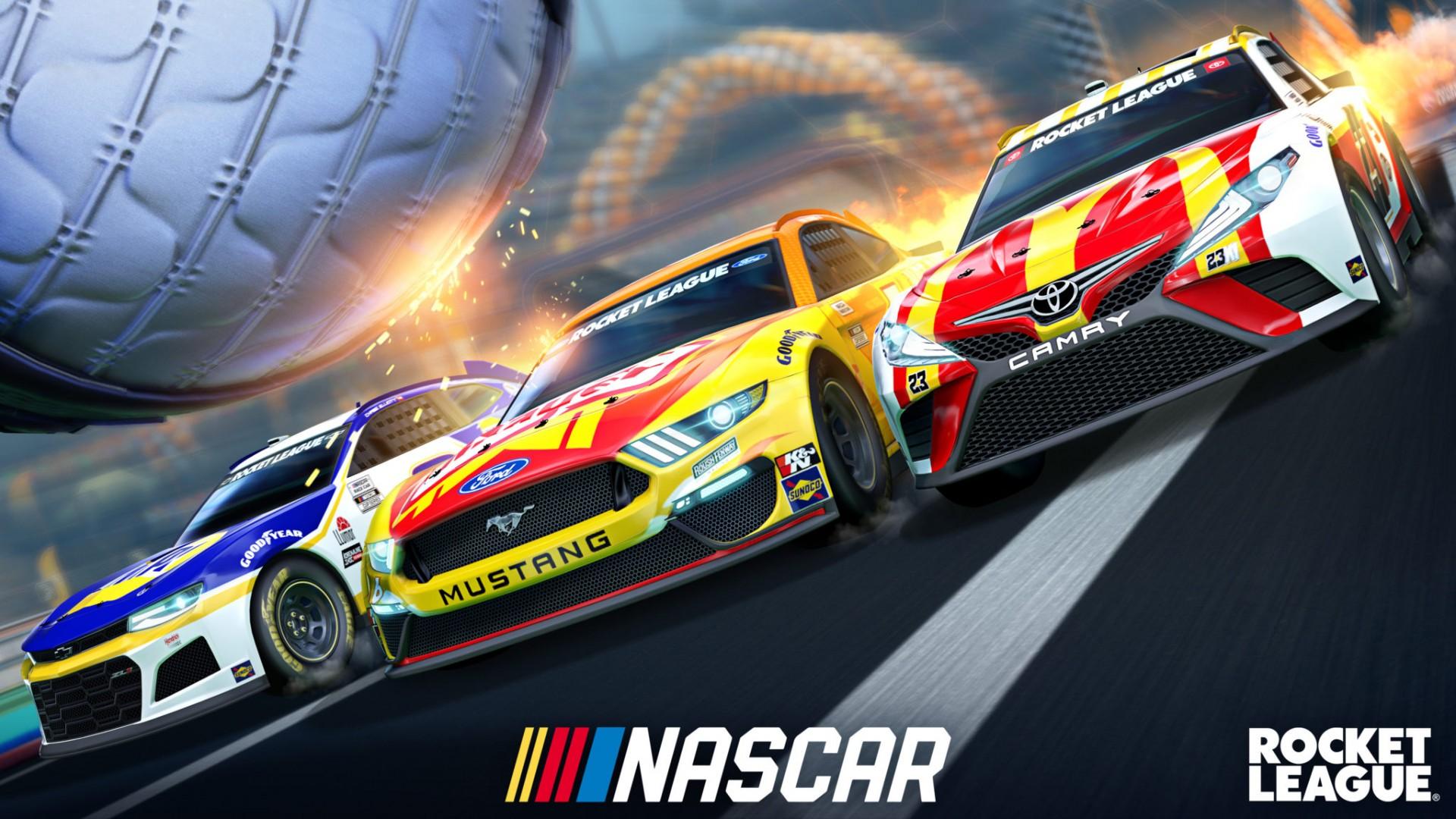 В Rocket League появятся модели машин из NASCAR