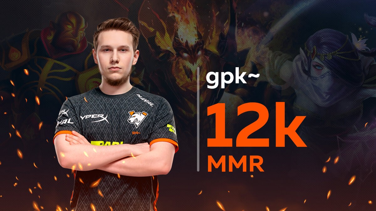 Надежда СНГ Gpk взял 12 тысяч MMR в Dota 2