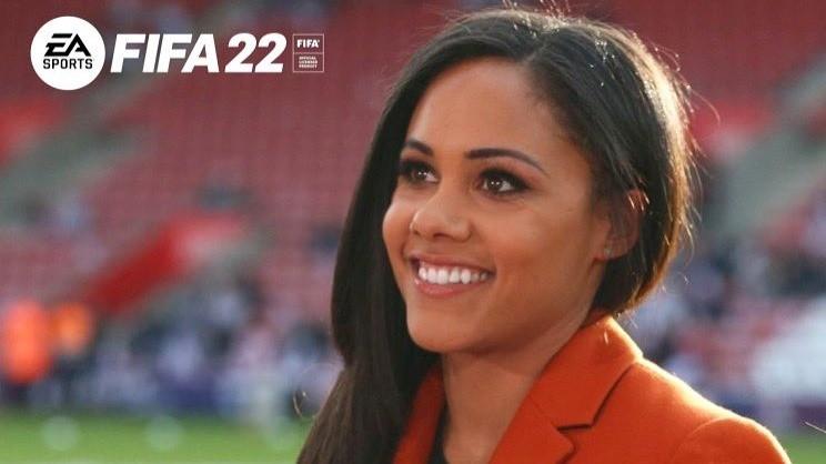 В FIFA 22 официально появится темнокожая девушкакомментатор