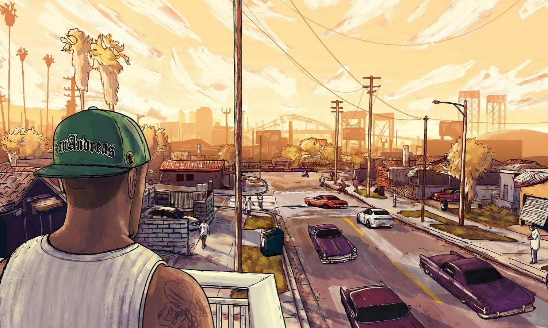 Ремастер GTA San Andreas глазами художника реальность или просто фантазии